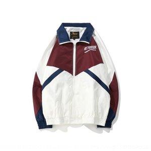 RNZcM M8yqF Corea del color correspondiente marca de moda de hip-hop Harajuku deportes chaqueta rompevientos floja delgada nv nv wai mujeres tao tao WAI rompevientos