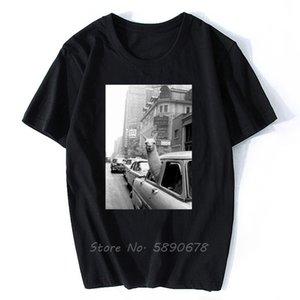 Moda Kısa Kollu Tişört Lama A Taksi On Times Square Baskılı Erkekler Pamuk Üst Tees Günlük O-Yaka T-Shirt Unisex Tişörtü