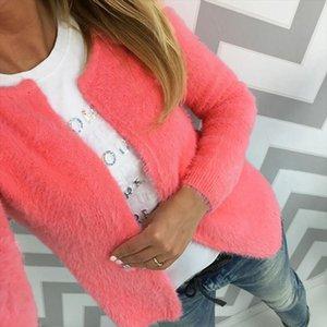 Spring Autumn Fleece Sweater Long Sleeve O Neck Cardigan Fashion Casual Knitting Open Stitch Cardigans Coat Plus Size XL