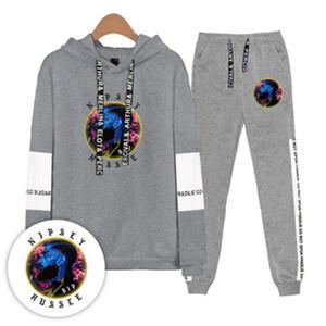 Trajes para hombre Nipsey Hussle chándales tendencia de la moda de primavera de rap ocasional otoño de manga larga Sudaderas Pantalones Conjuntos diseñador Mujer Nueva flojos 2pcs