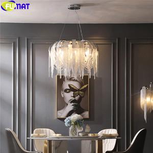 Catena moderna in alluminio a sospensione Sospensione Lampadario illuminazione a LED Nordic Tassel Hanging Lamp per Scala Porch