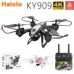 Halolo Drone KY909 HD 4K WIFI Video FPV VIVE FPV DRONE FLUJO DE LUZ MANTENIMIENTO Mantenga altura Aviones de cuatro ejes de la altura Drone de despegue de una llave con cámara