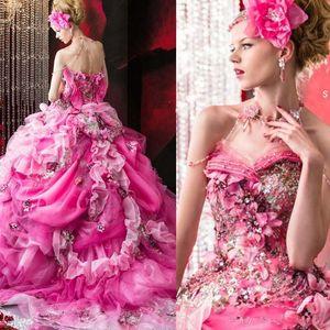 Длина Stella De Libero бисером Свадебные платья Rhinestone Аппликации Цветы Backless Свадебные бальные платья пола платье рябить свадебное