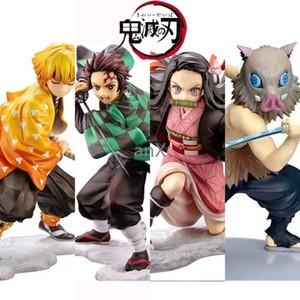 Anime 16CM Dämonentöter Kimetsu keine Yaiba Figur Kamado Tanjirou Action Figure Agatsuma Zenitsu Nezuko Krieger PVC Modell Spielzeug