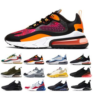 Nike air max 270 react shoes 2019 react uomo running shoes Bauhaus Optical triple nero White Designer uomo scarpe da ginnastica traspiranti sport outdoor sneakers 40-45