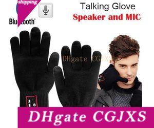 Salut -Call Gants Haut-parleur Bluetooth magique Gants Parler tactile complet Gant pour Moblie Téléphones cellulaires mains -Free tactile Fonction