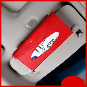 Dell'automobile di modo Nuovo caldo scatola del tessuto per Sun Visor PU Hanging in pelle scatola del tessuto Holder Parasole Caso Accessori auto