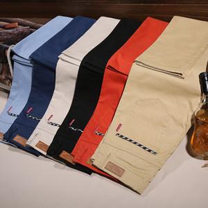 2020 Designer Marke Cotton Straight Leg Stretch Männer Kleid Hose beiläufige kurze Hose dünne ruckelfreie Wiedergabe von Full Length nehmen Geschäfts-Hose
