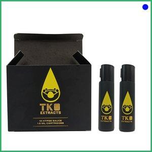 carros TKO Vape cartuchos de extractos de empaquetamiento para aceite espeso de envases a prueba de fugas vaporizador 0,8 y 1,0 ml de la bobina de cerámica Atomizador