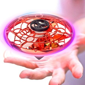 Juguetes voladores Spinner mini drone UFO Gyro mano de aeronaves para niños niños Quadrocopter con la luz llevada LJ200921