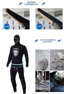 SLINX Männer 5MM Zweiteilige Taucheranzug Mergulho Wetsuit mit Kopfbedeckung Nahtlose Thick Spear Wetsuit Surfen Segeln Wetsuits