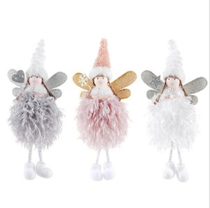 Noel Dekorasyon Angel Doll XAMS Ağacı kolye Yaratıcılık Süsleri Çocuk Hediye Yumuşak elden Küçük Kız Crafts Elfler Deroc IIA659 Asma