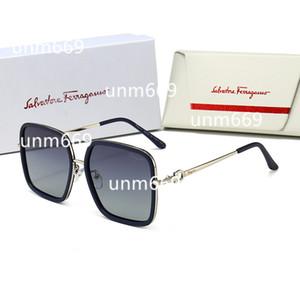 2020 Salvatores Ferragamo Glasses sunglasses klipleri iki Boyut Johnny Depp Stil Gözlük klip Erkekler Retro Vintage Polarize klip Kadın güneş gözlüğü klipler 7 renk dışarı