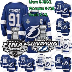 Tampa Bay Lightning 2020 Stanley Cup Champion Brayden Point Steven Stamkos Nikita Kucherov Victor Hedman Mens Womens Youth Hockey Jerseys