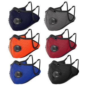 Rosto Sports Mask Crianças Outdoor Sports Dust-proof respirável lavável Protective Ciclismo Máscara ativado bicicleta carbono DHE539