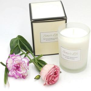 250g New Romantic Aromatherapy Candle Natural Smokeless Festive Christmas Candle to help you sleep 5 kinds of fragrance candle jars