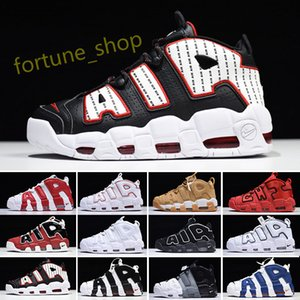 Nike Air More Uptempo Air plus 96 QS Olympic Mens Basketball Chaussures d'or noir SUP 3M Airs Scottie Pippen Uptempo Hommes Femmes Sport Chaussures K63 5,5 à 13