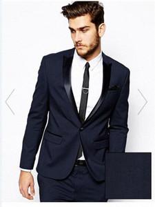 الدعاوى التجارية الرجال بذلات الزفاف حار بيع 2016 أزياء الرجال العريس البدلات الرسمية مع السراويل معطف + سروال + ربط العديد من اللون ACME #