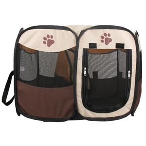 Dog House Indoor portátil Tenda dobrável exterior Kennels Cercas Pet Casas Dogs Playpen interior Puppy Dog gaiola quarto Crate Entrega