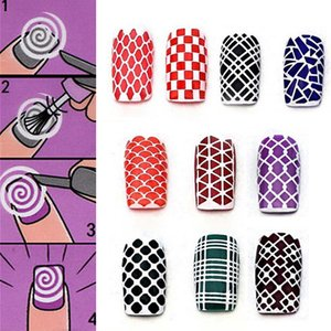 Colorful Women Sheet Set Nail Art Transfer Stickers D Design Manicure Tips Decal Decoration Fashion Nail Stickers Decals