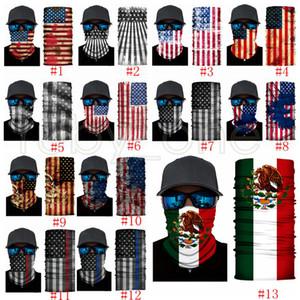 America bandiera stampa Fasce Bandane mascherina protettiva del fazzoletto da collo magico Ciclismo Bandana Copricapo Foulard Mascherine del partito rifornimenti RRA3480