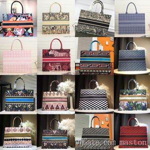 2021 C shopping bag cherry blossom flowers cavans Book Totes Designer handbag D bookbags Printed cd embroidered bag tote large capacit sal9#