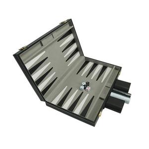 O jogo de xadrez tabuleiro de gamão Set PU Leather presente Folding Negócios Entretenimento