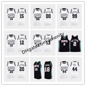 costumbre GrizzliesMemphis12 13 Morant Jackson Jr. 15 Clarke 11 Conley baloncesto camisetas de jersey de la colección Concord Ja Jaren Mike