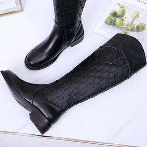 Freies DHL-Frauen-Qualitäts-Stiefel Stiefeletten Echtlederschuhe Modeschuhe Winter Fall Aufladungen Art und Weise Niet mit Kasten EU: 35-41 02K27012