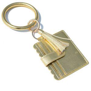 Bracelet bourse Trousseau femmes Glands Bracelets PU gainé de cuir Bague Bangle carte clé Porte-Monnaie bracelets Porte-sac par mer GGA3634
