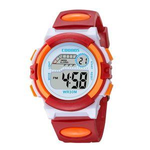 Design Mode-Mädchen-Jungen-Sport-LED-Digitaluhr 0916 Relojes Para Niños Elektronische Multifunktions-Kind-Geschenk-Partei Kinderuhren Mädchen