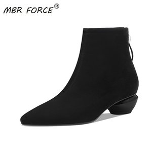 MBR FORCE 2020 New Fashion Kid Suede Solid Ankle Boots Elegant Sexy Women Warm Booties Woman Ladies boots shoes large size 34-42