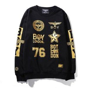 RAP Boy Hawk Boy London Горячий шрифт Real Dance Hip-хоп Rock 6 Хлопок Толстовка с капюшоном с модами Золотая с капюшоном Улица Цвета GQJPS