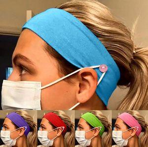 Saf Renk Düğmesi Maskesi Kafa Karşıtı yaprak Kulak Koruma Pamuk Stretch Yoga Fitness Erkekler Ve Kadınlar Spor Yüz Yıkama Saç Accessori EEA1924