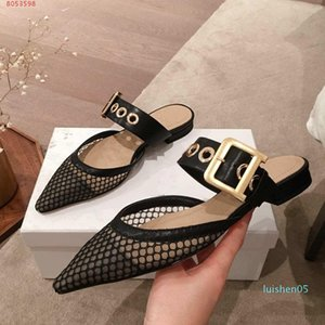 2020 latest design for rivets Luxury ladies slippers,High-end custom Pink black Burgundy and nude lady hollowed-out head wrap l05