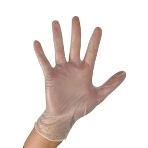 100 Sayım Tek Şeffaf Vinil Eldiven Toz Ücretsiz Lateks Ücretsiz Muayene Eldiven Gıda Güvenli Tek Kullanımlık Eldiven, Küçük, Orta, Büyük