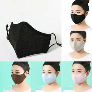 Máscaras de la cara de algodón puro tridimensional transpirable adulto máscara a prueba de polvo protección solar anti-haze