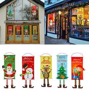 Nova Natal Pendant Dístico Decoração criativa de suspensão Supplies Janela Bandeira Pingente partido Flag Up Christmas Dress w-00149