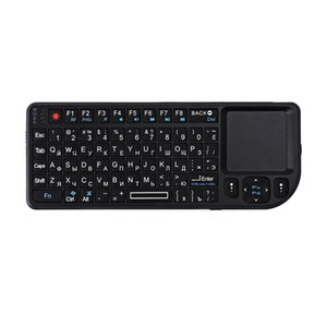 A8 Russian Wireless Keyboard Air Mouse 2.4G Mini Touchpad White Backlit for Speech Projector Plug and Play