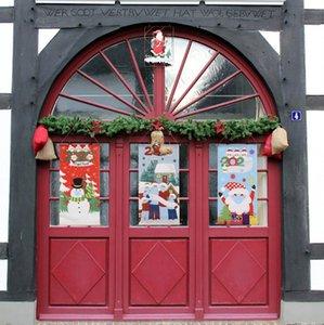 2020 Weihnachts Quarantäne-Familie der Maske Flagge Schneemann Weihnachtsmann, Fenster, Tür Esstisch Wand Dossal Flagge Mode Weihnachtsverzierungen F92501
