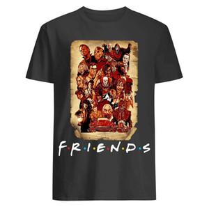 Personaggi Horror Movie Amici Halloween Pennywise TV Feddy JASON CHUCKY maglietta degli uomini unisex delle donne maglietta di trasporto
