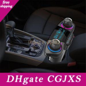 Bt06 FM 송신기 2 .1A 빠른 자동차 충전기 보조 변조기 블루투스 핸즈프리 차량용 키트 오디오 MP3 플레이어와 스마트 충전 듀얼의 USB