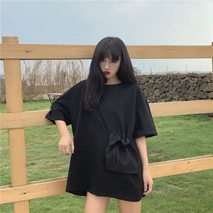 Summer Korean Style Harajuku Style Non-Mainstream Heart Machine Design Backless Top Loose Short-Sleeved T-shirt Female Fashion