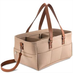 Felt Diaper Organizer Mummy Bag Shoulder Crossbody Felt Bag Multifunction Storage Handbag For Outdoor Camping Picnic Bags Tote