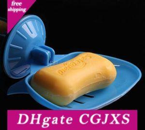 DHL Free Ship, 100pcs vácuo Ventosas Banho Duche armazenamento Dish Soap Box Soap Caso Titular Container Soapbox