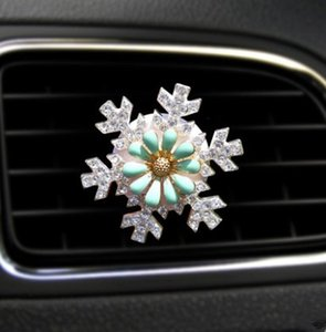 1 Piece Car Outlet Decoration Creative Diamond Flower Air Conditioning Decorative Car Pendant Ornaments