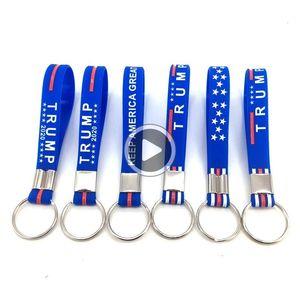 Carro Carta lue Keycains Acssories Trump Key novo chaveiro Mantenha América Grande para o presidente Estrelas Portale Sile 0 9y Jarod