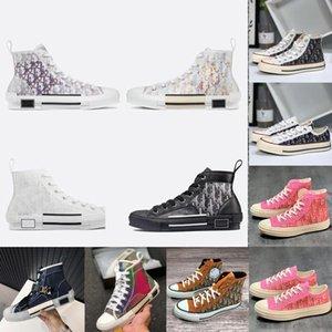 dior 19FW B23 Наклонная 2020 High Low Top Sneakers марочные платформы Obliques Технические кожаные ботинки мужские ботинки женщин Новая мода Тренеры 3 3PQf #