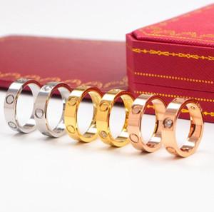 amor Rose Ouro de aço inoxidável Anel Com Mulher saco de jóias anéis dos homens do casamento Promise Rings por Mulher Mulheres Engagement presente