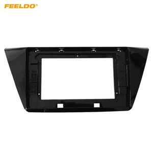 "FEELDO Car Stereo 10.1"" Big Screen Fascia Frame Adapter For Volkswagen Touran 2016 2Din Dash Audio Fitting Panel Frame Kit #6592"